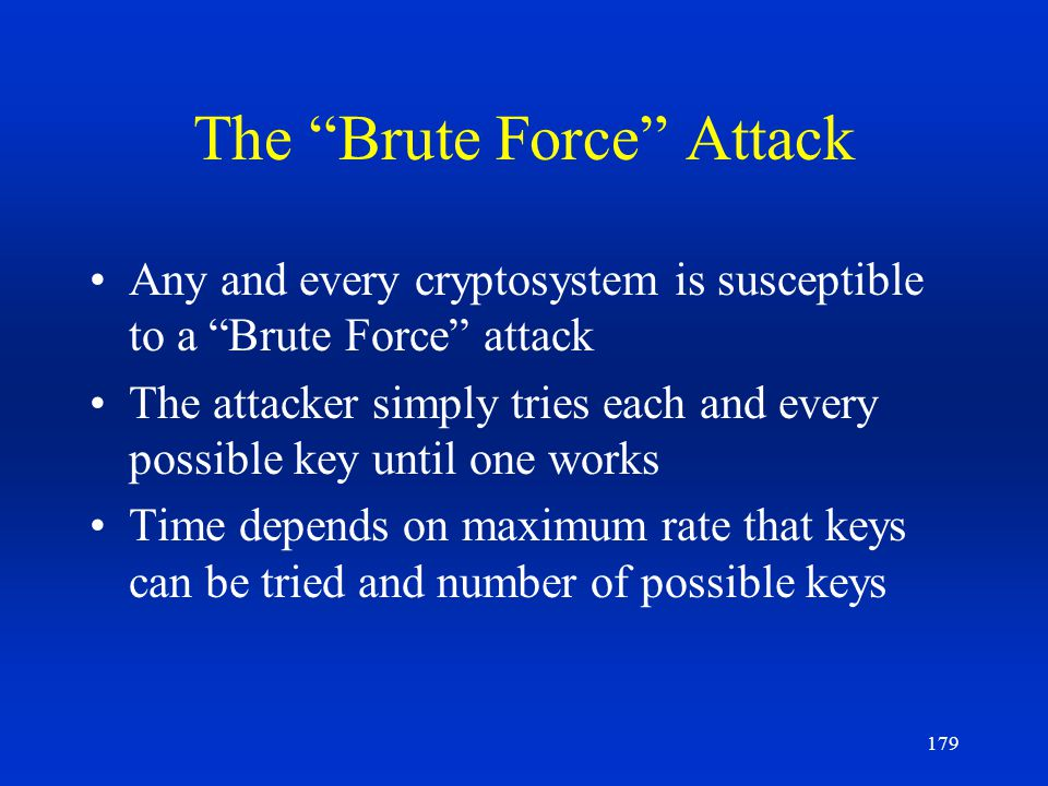 The Brute Force Attack