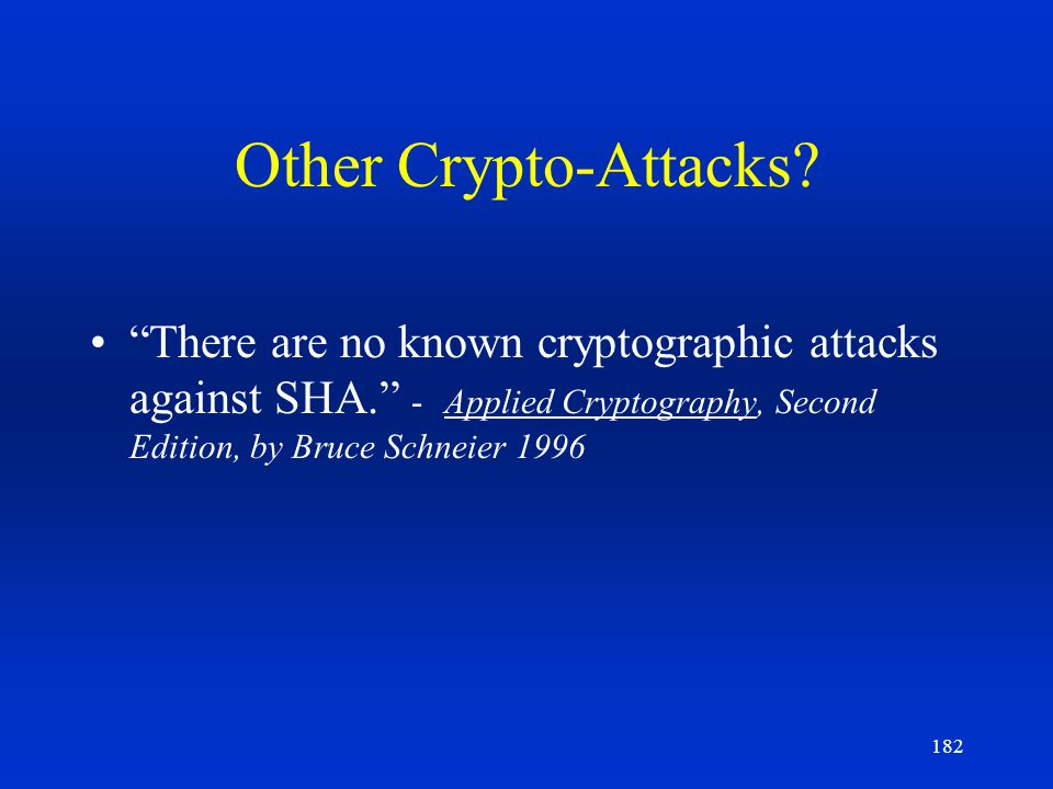 Other Crypto-Attacks.
