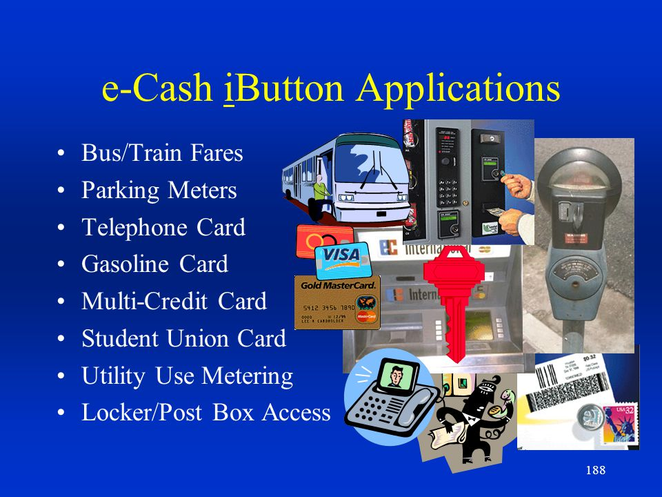 e-Cash iButton Applications