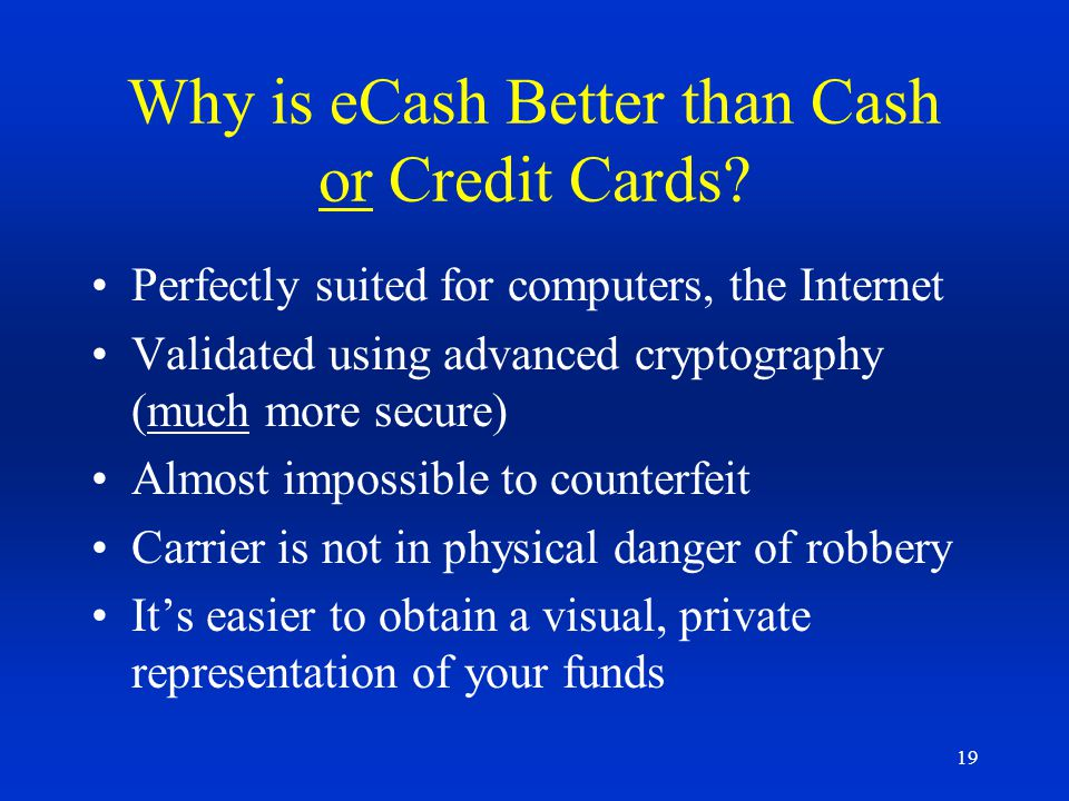 Why is eCash Better than Cash or Credit Cards