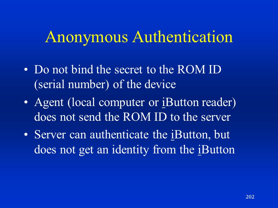 Anonymous Authentication