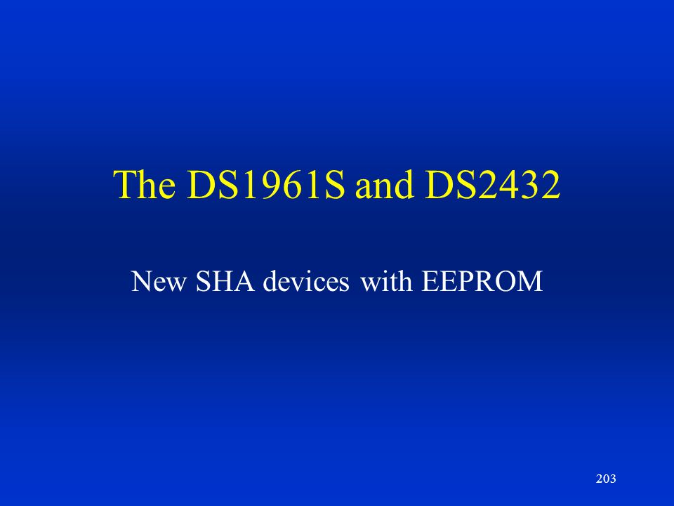 New SHA devices with EEPROM