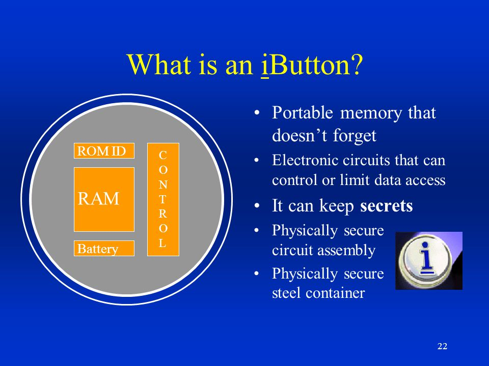What is an iButton Portable memory that doesn't forget