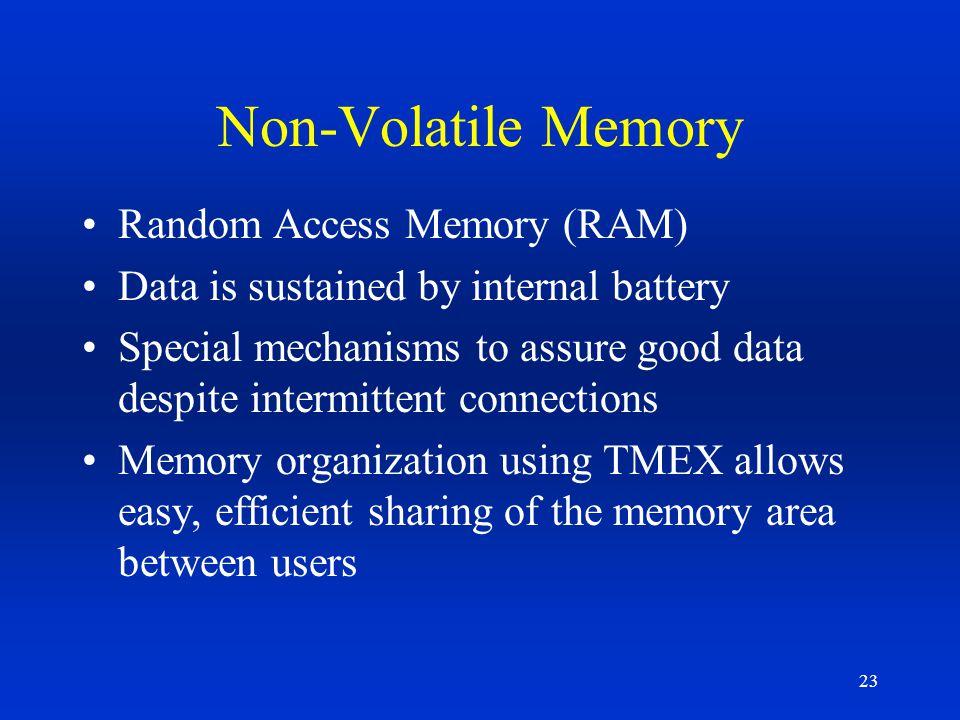 Non-Volatile Memory Random Access Memory (RAM)