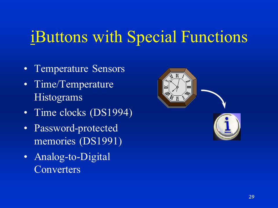 iButtons with Special Functions