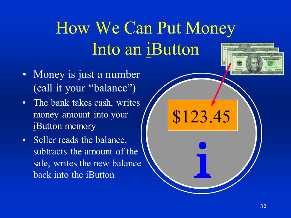 How We Can Put Money Into an iButton
