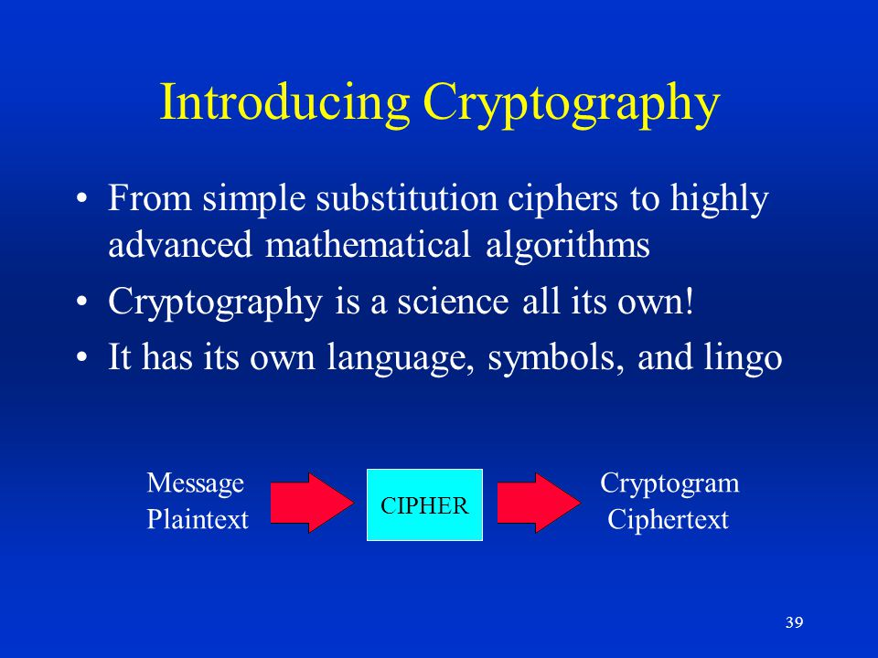 Introducing Cryptography