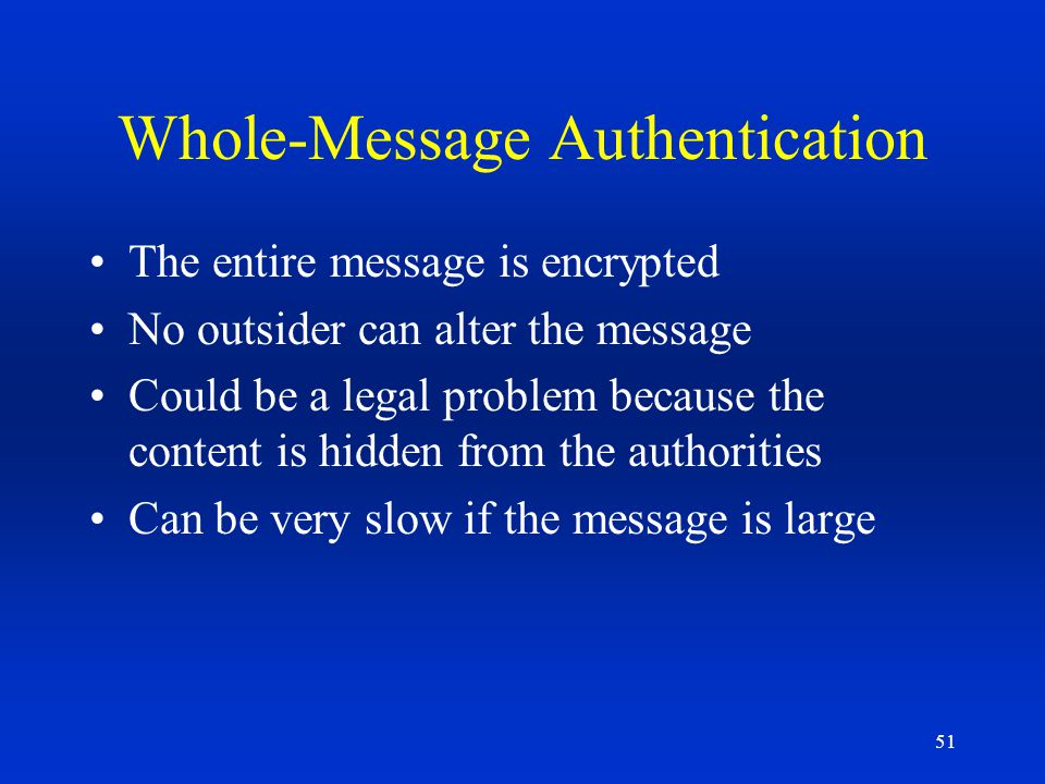 Whole-Message Authentication