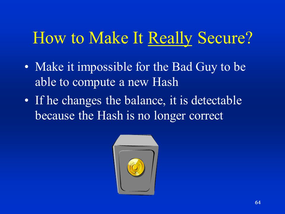 How to Make It Really Secure