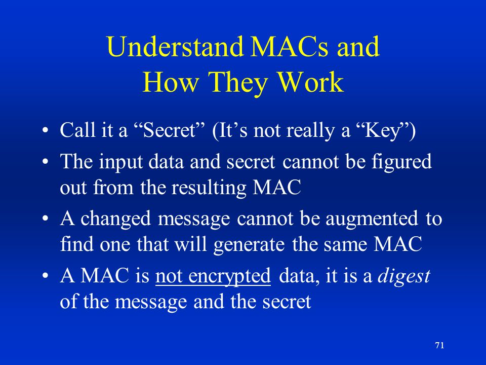 Understand MACs and How They Work
