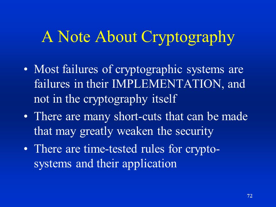 A Note About Cryptography