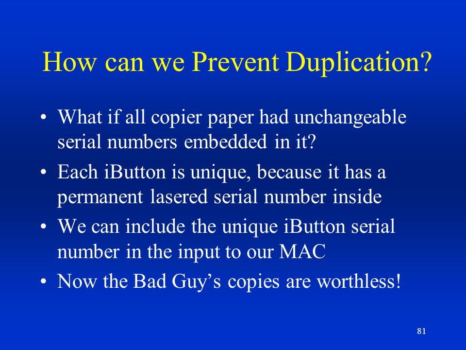 How can we Prevent Duplication