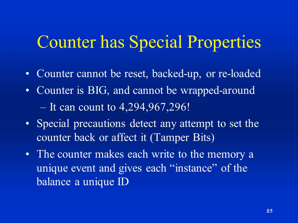 Counter has Special Properties