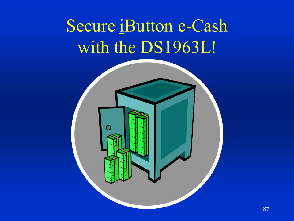 Secure iButton e-Cash with the DS1963L!