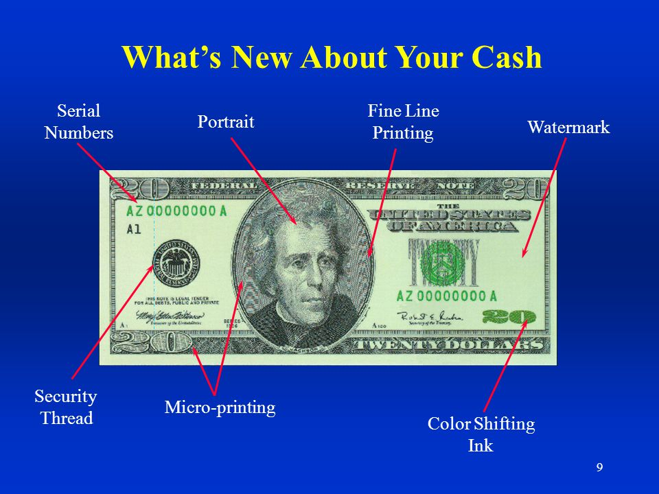 What's New About Your Cash