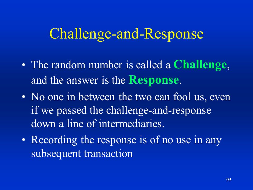 Challenge-and-Response