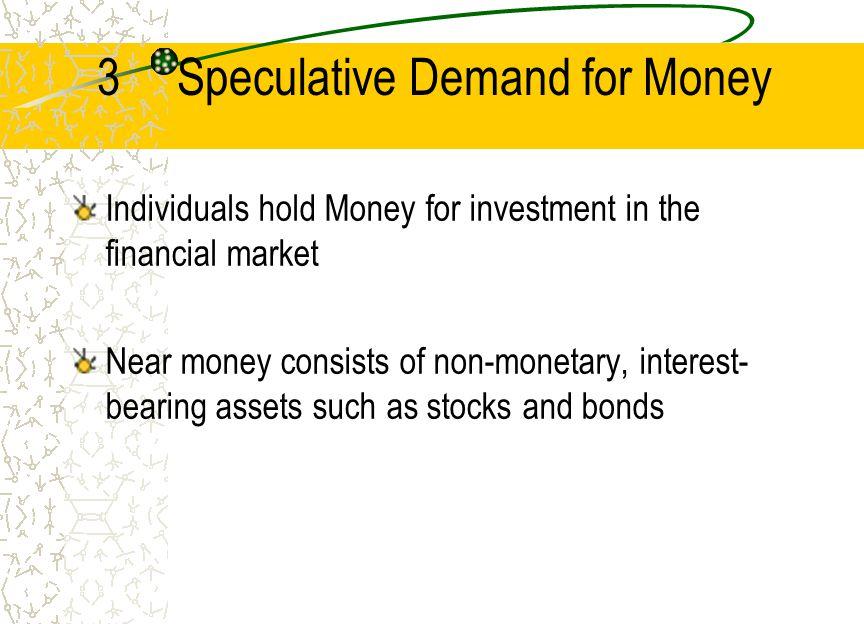 3 Speculative Demand for Money