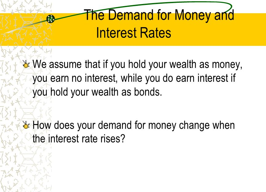 The Demand for Money and Interest Rates