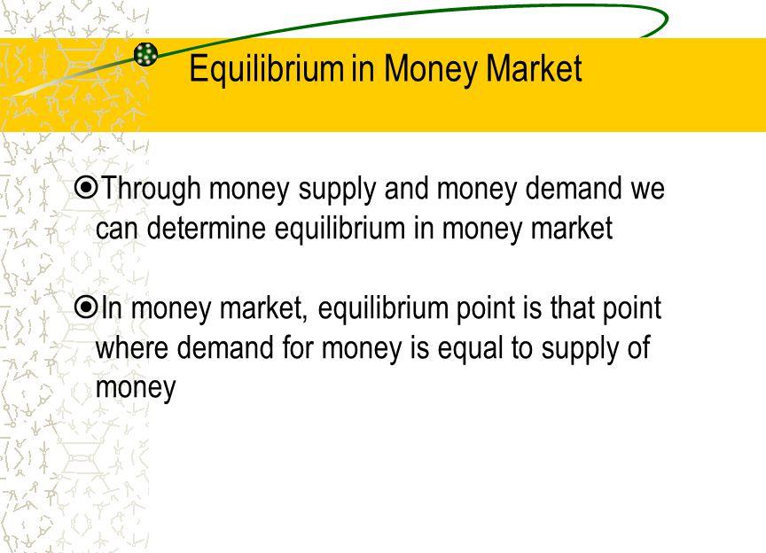 Equilibrium in Money Market