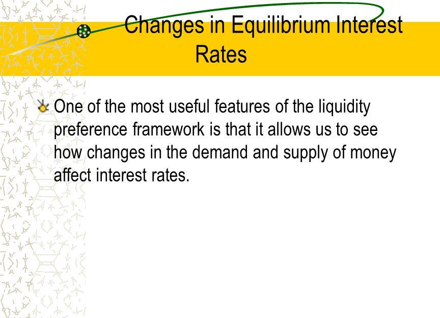 Changes in Equilibrium Interest Rates