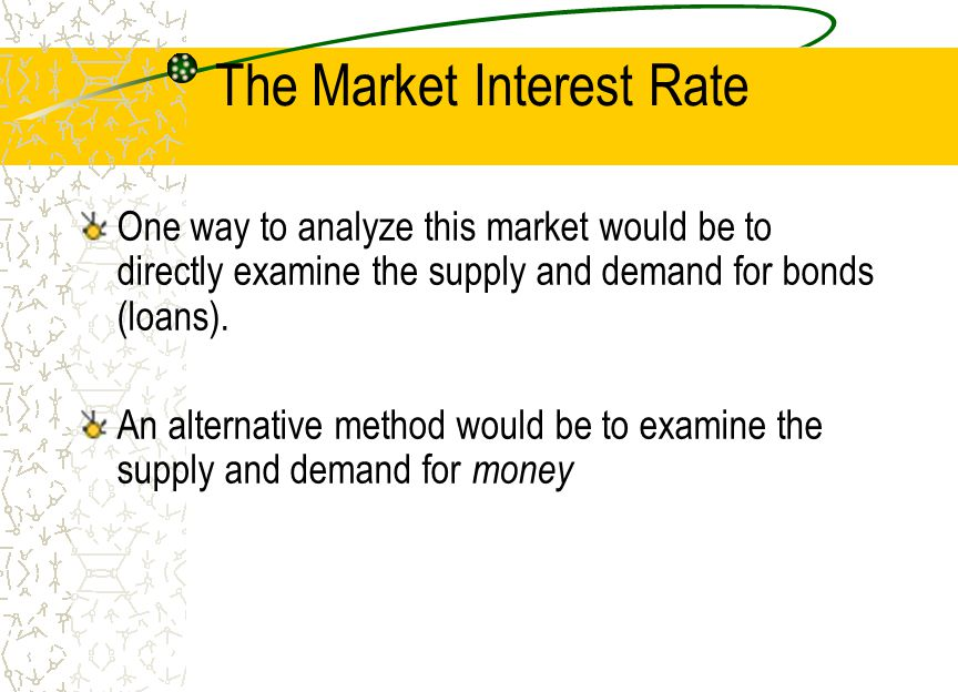 The Market Interest Rate
