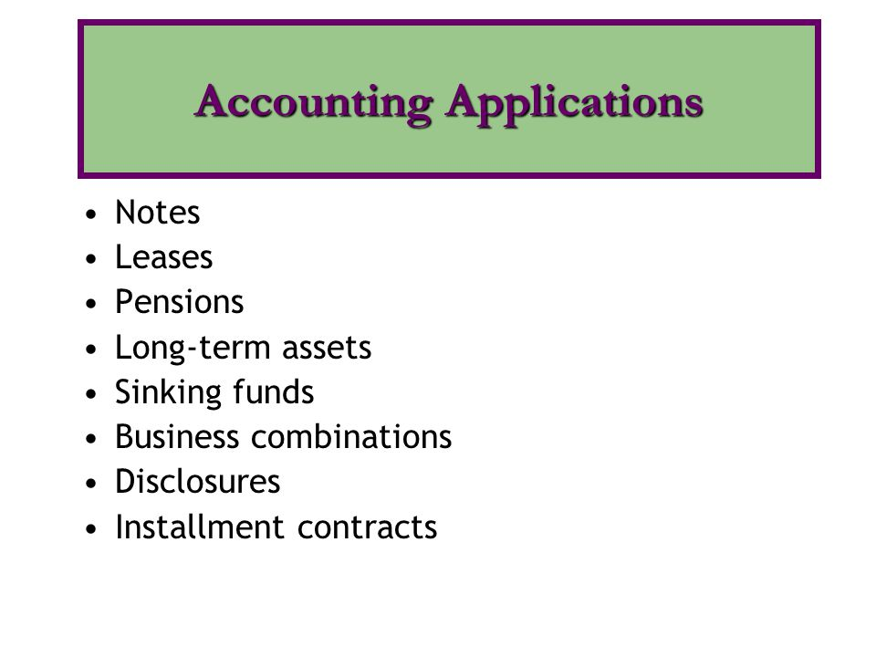 Accounting Applications