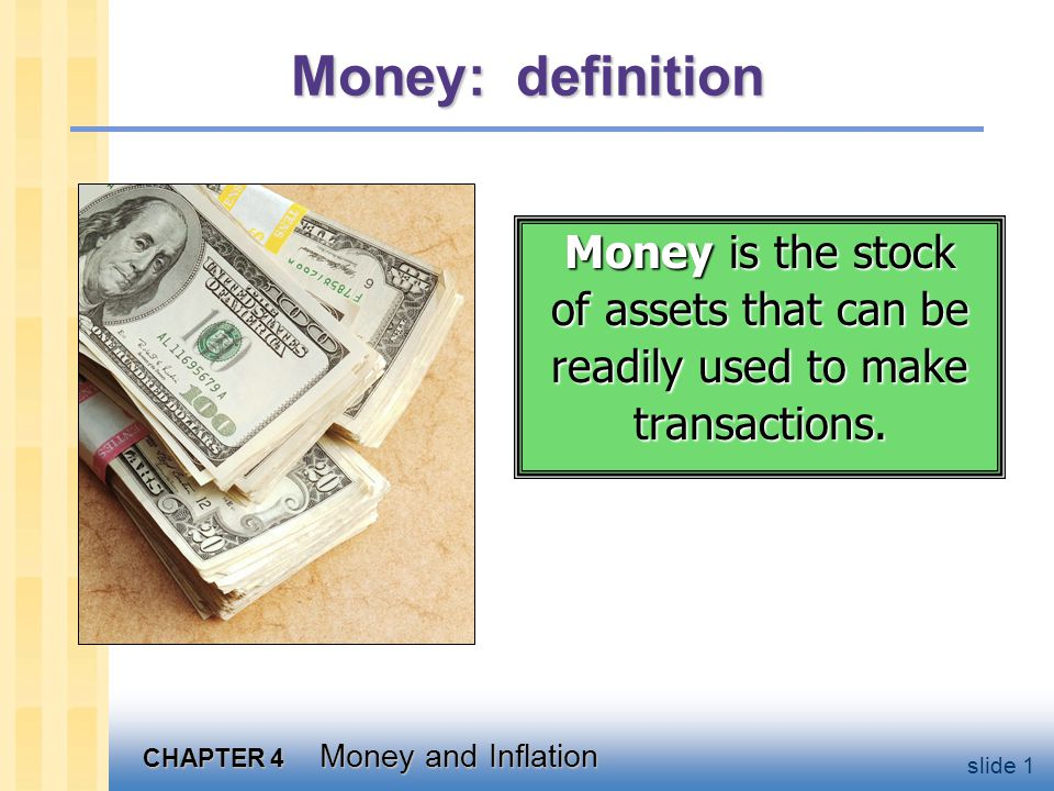 Money: functions medium of exchange we use it to buy stuff