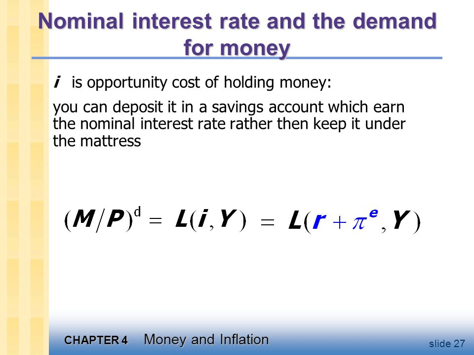 The supply of real money balances