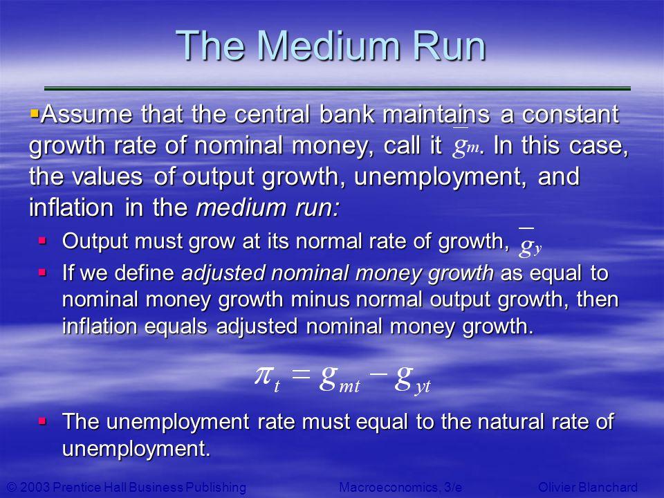 The Medium Run