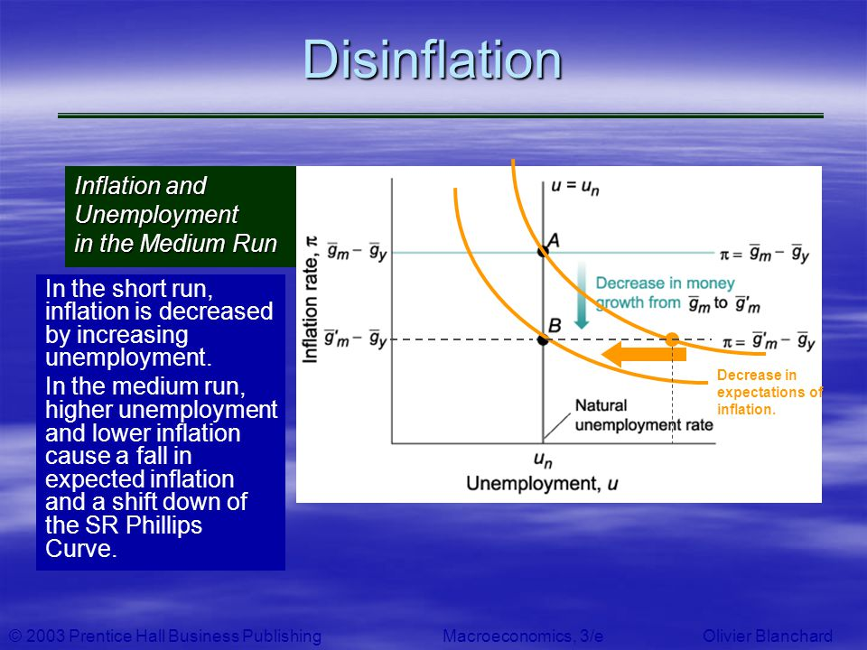 Disinflation Inflation and Unemployment in the Medium Run