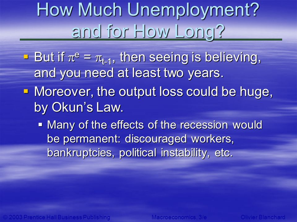 How Much Unemployment and for How Long