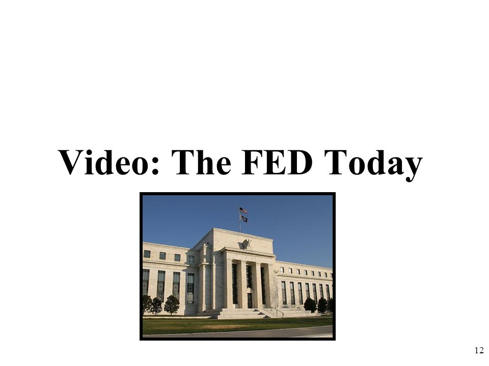 Video: The FED Today