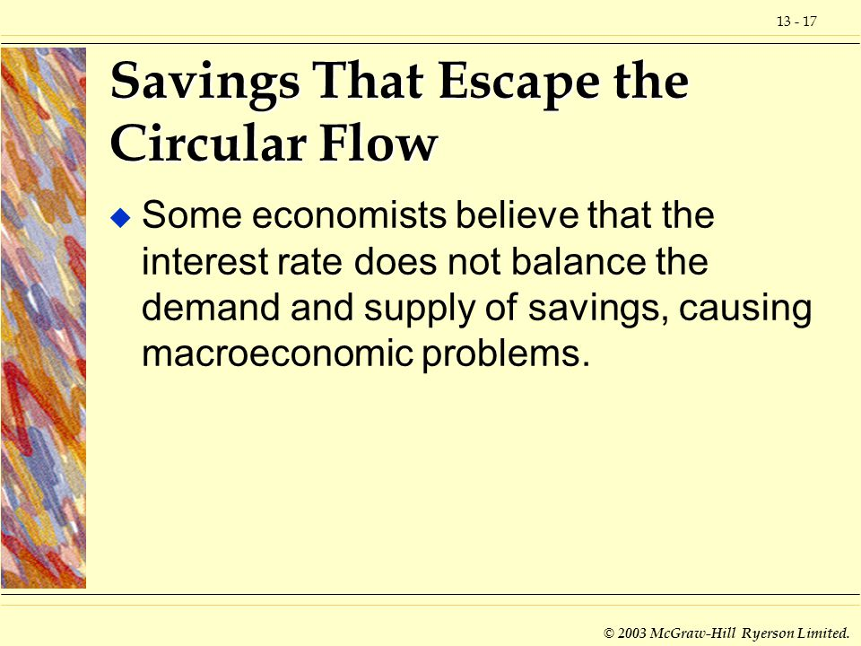 Savings That Escape the Circular Flow