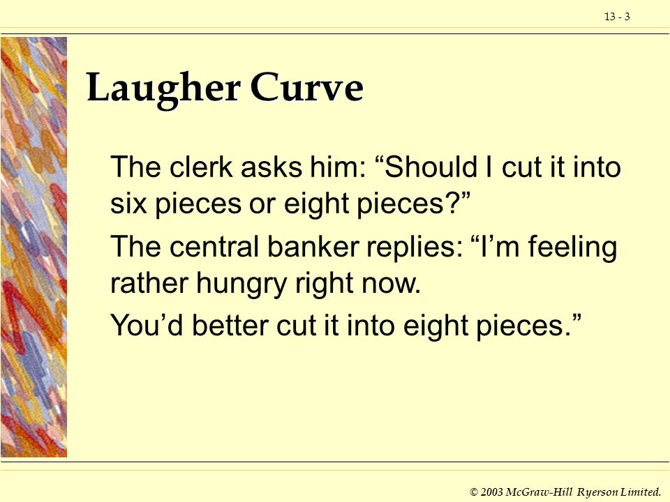 Laugher Curve The clerk asks him: Should I cut it into six pieces or eight pieces