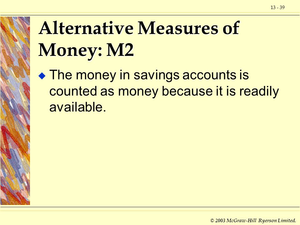 Alternative Measures of Money: M2