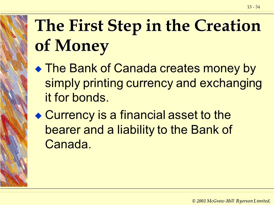 The First Step in the Creation of Money