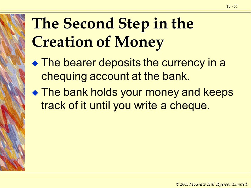 The Second Step in the Creation of Money