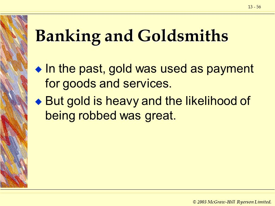 Banking and Goldsmiths