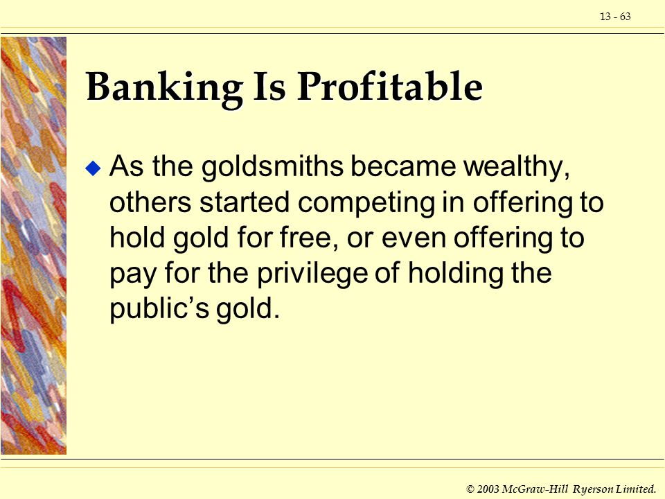 Banking Is Profitable