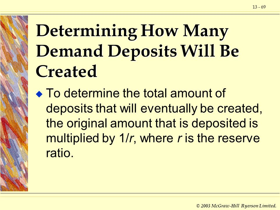 Determining How Many Demand Deposits Will Be Created