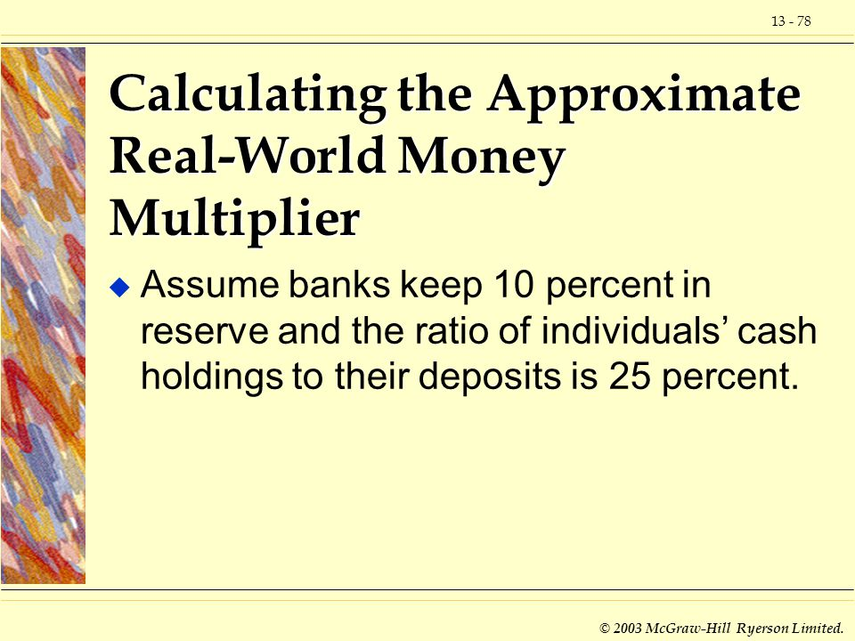 Calculating the Approximate Real-World Money Multiplier