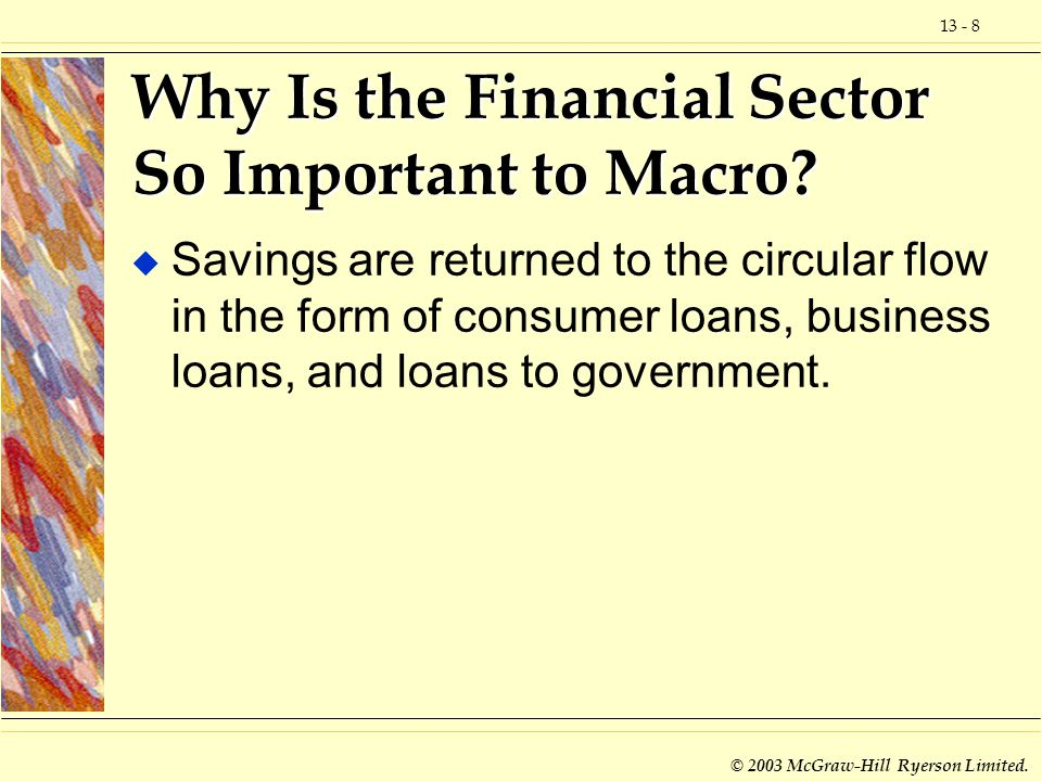 Why Is the Financial Sector So Important to Macro