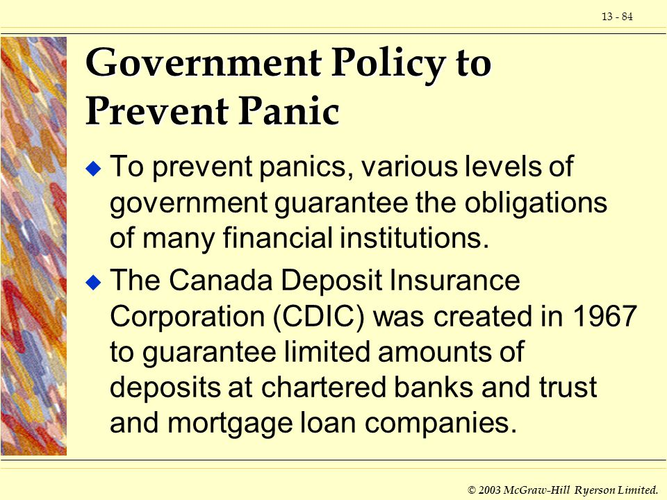 Government Policy to Prevent Panic