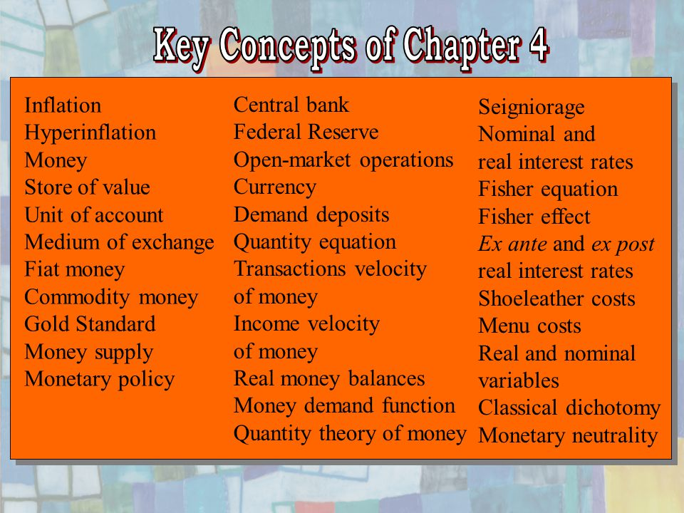 Key Concepts of Chapter 4