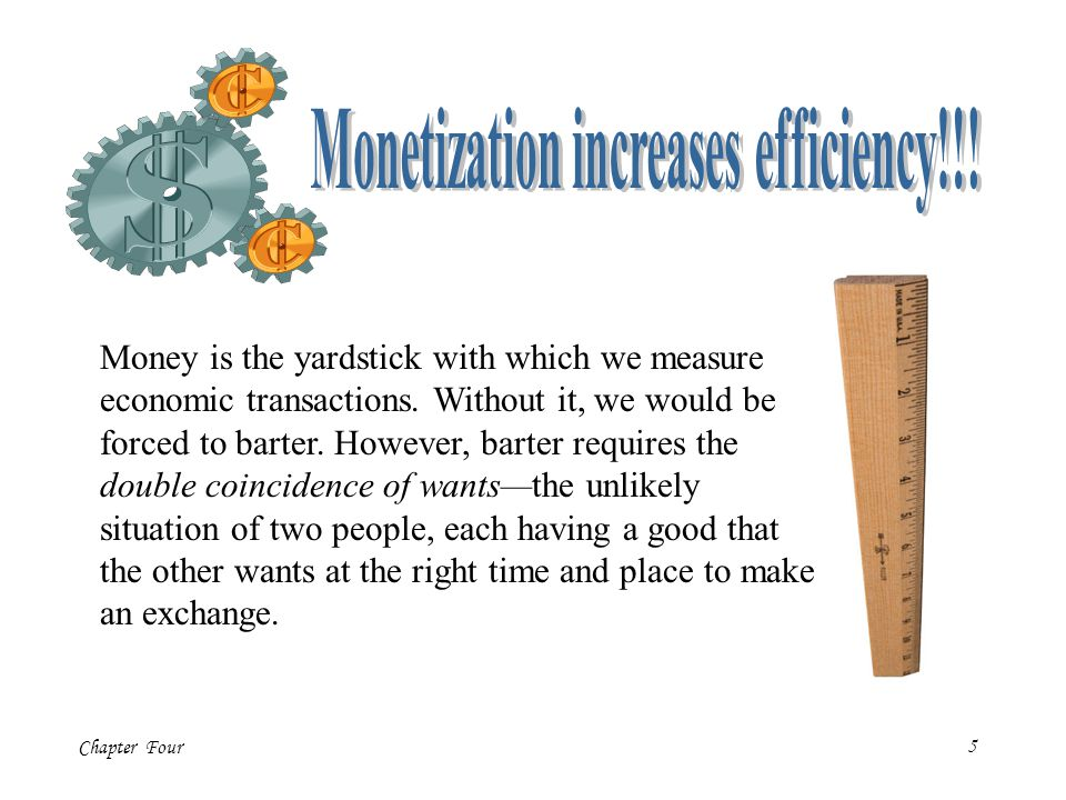 Monetization increases efficiency!!!