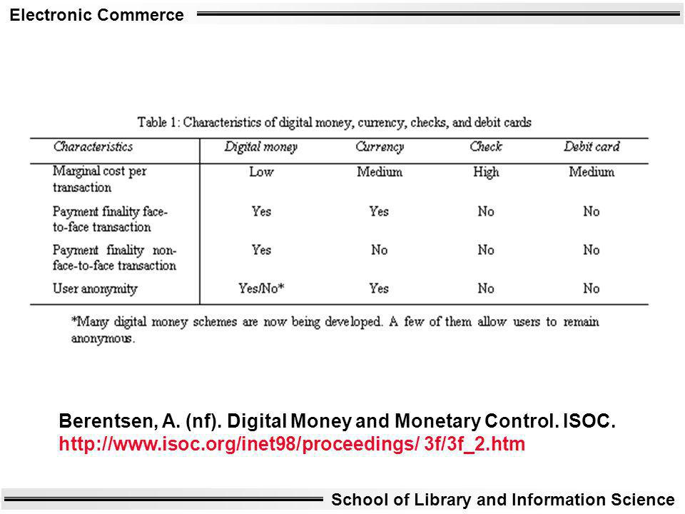 Berentsen, A. (nf). Digital Money and Monetary Control. ISOC