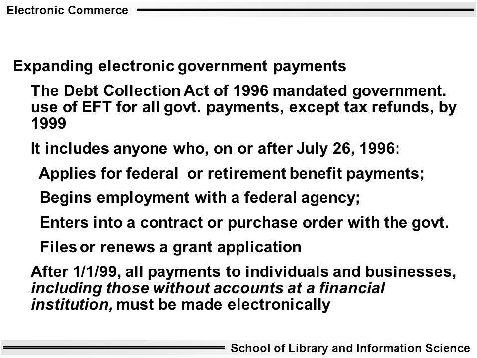 Expanding electronic government payments
