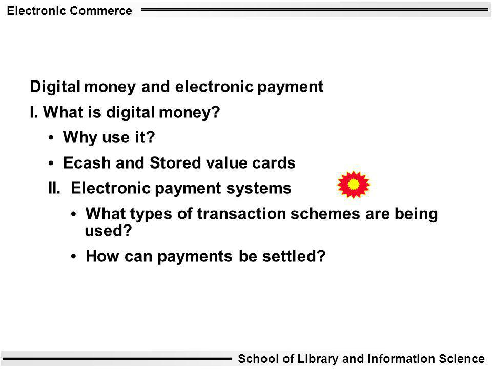 Digital money and electronic payment