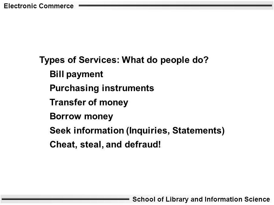 Types of Services: What do people do