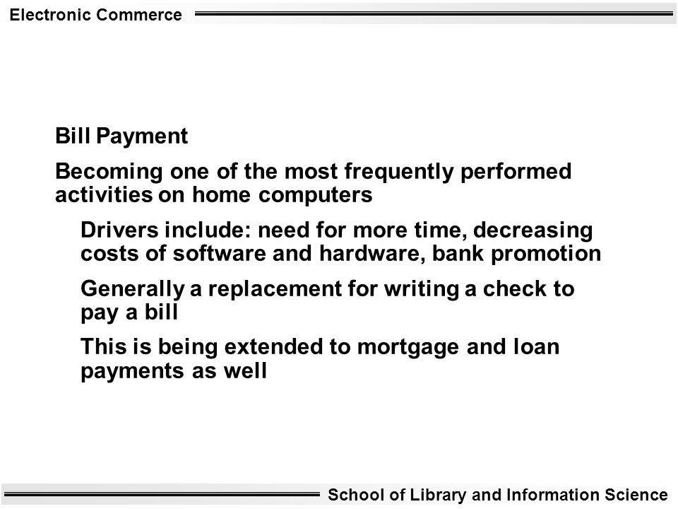Bill Payment Becoming one of the most frequently performed activities on home computers.